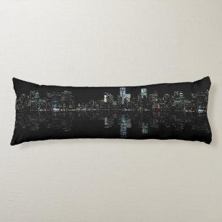 Stunning Night Photo of New York Skyline Body Pillow