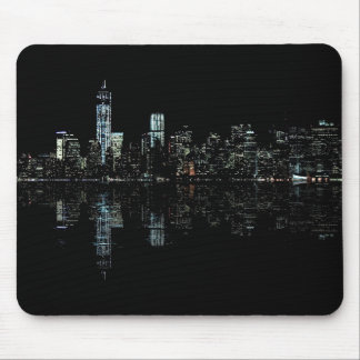 Stunning Night Photo of New York Skyline Mouse Pad