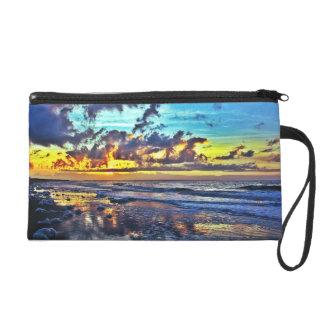 Stunning Oak Island, NC Sunrise Clutch Bag