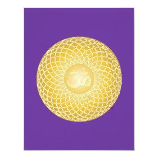 Stunning Om Symbol 4.25x5.5 Paper Invitation Card