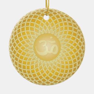Stunning Om Symbol Ceramic Ornament