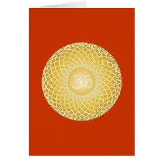Stunning Om Symbol Greeting Card