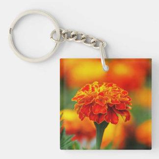Stunning Orange Marigold Keychain