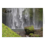 Stunning Oregon Waterfall Wedding Greeting Card