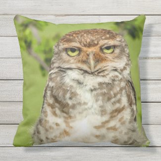 Owl in Nature Throw Pillow