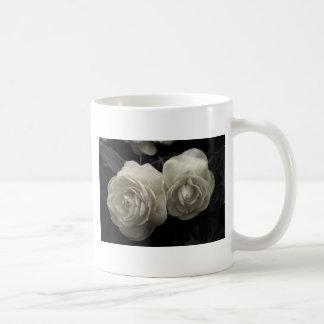 Stunning pale cream roses print classic white coffee mug