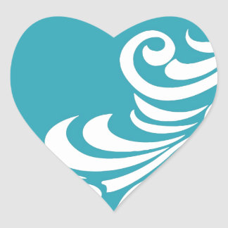 Stunning Peacock Feather Silhouette Print Heart Sticker
