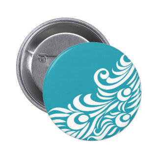 Stunning Peacock Feather Silhouette Print Pinback Button