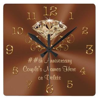 Stunning Personalized Anniversary Clocks