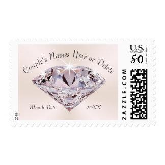 Stunning Personalized Blush Diamond Wedding Stamps