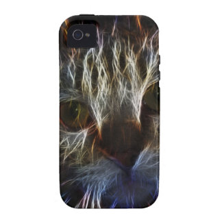 Stunning pet cat face art, made of light - gifts iPhone 4/4S case