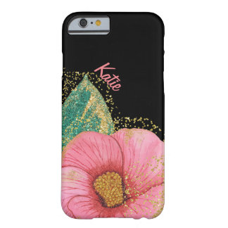 Stunning Pink and Gold Hibiscus iPhone 6 Case