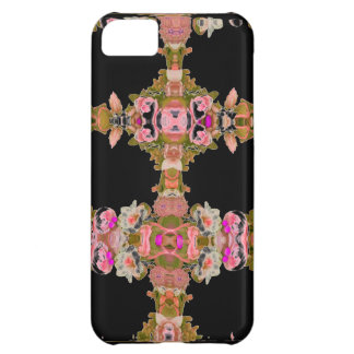 STUNNING PINK ROSE AND FLORAL ARA ART DESIGN CASE FOR iPhone 5C