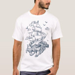 Stunning Playful Summer Pirates Set Sail T-shirts