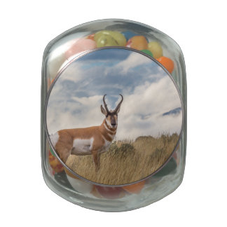 Stunning Pronghorn Jelly Belly Candy Jar
