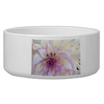 Stunning Purple and White Dahlia Flower Bowl