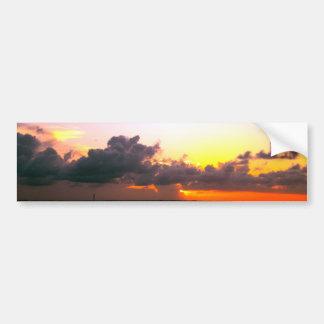 stunning purple gold orange sunset in mexico bumper sticker