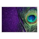 Stunning Purple Peacock Greeting Card