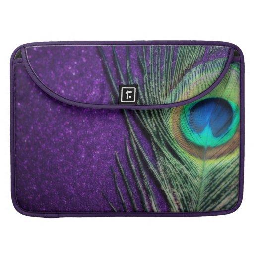 Stunning Purple Peacock Sleeve For MacBooks
