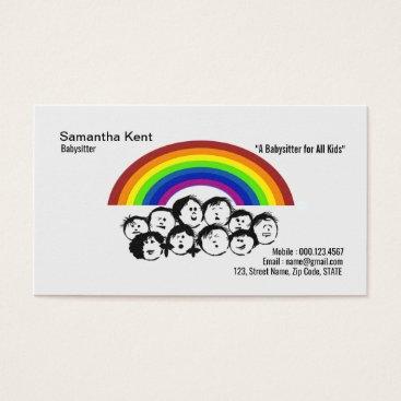 Stunning Rainbow Animated Children Business Card