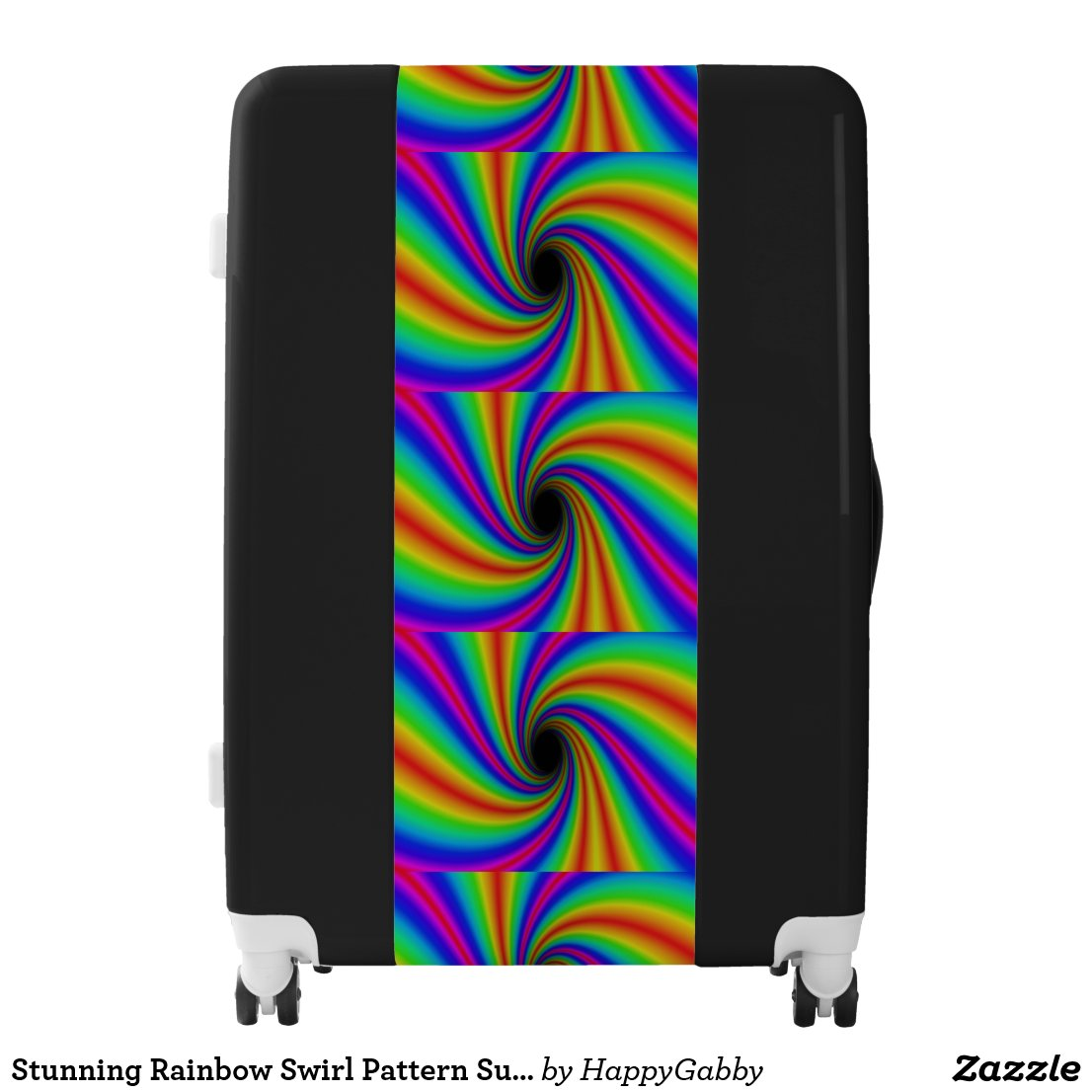 Rainbow Swirl Pattern Suitcase