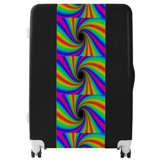 Rainbow Swirl Pattern Suitcase
