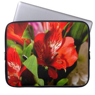 Stunning red flower design computer sleeves