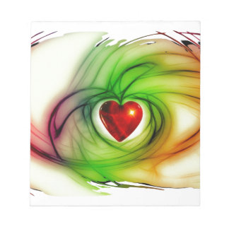 Stunning red green love heart design gifts -custom notepad