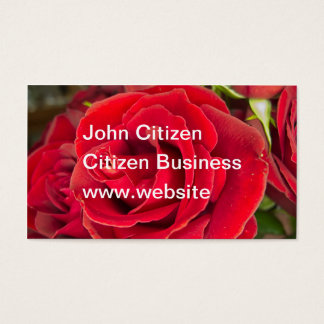 Stunning red rose business card