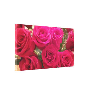 Stunning Red Roses Bouquet Close Up Canvas Print