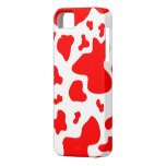 Stunning Red/White Cow Print - iPhone 5 Case iPhone 5 Covers