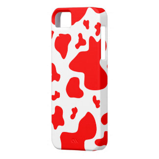 Stunning Red/White Cow Print - iPhone 5 Case