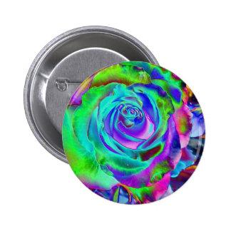 stunning rose bud pinback button