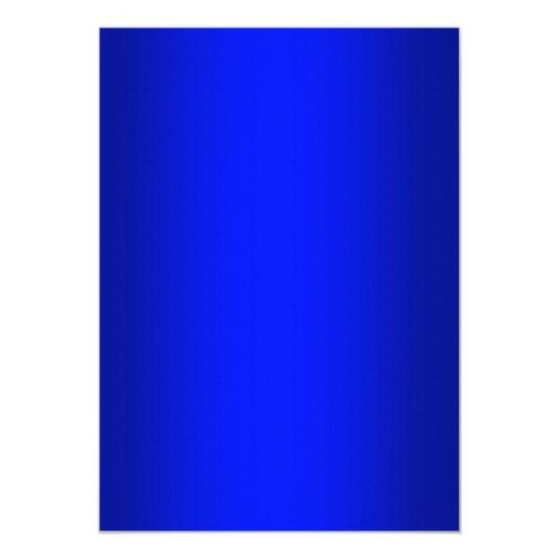 Stunning Royal Blue Gradient Graduate Graduation 5x7 Paper Invitation Card (back side)