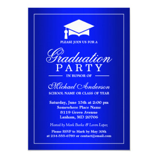 Stunning Royal Blue Gradient Graduate Graduation Card