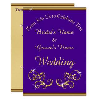 stunning royal purple and gold wedding invitations - Purple And Gold Wedding Invitations
