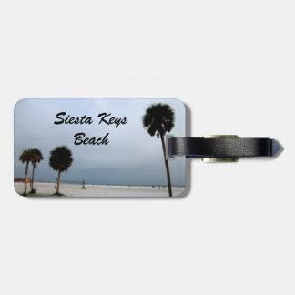 Stunning Siesta Keys Beach Travel Bag Tag