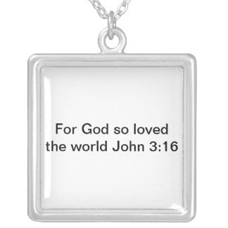 Stunning silver necklace with beautiful scripture