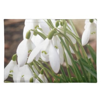 Stunning Snowdrops Cloth Placemat