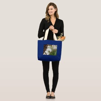 Stunning Snowdrops Large Tote Bag