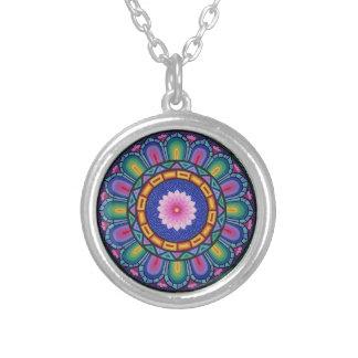 "Stunning ""Stained Glass Window"" mandala necklace"