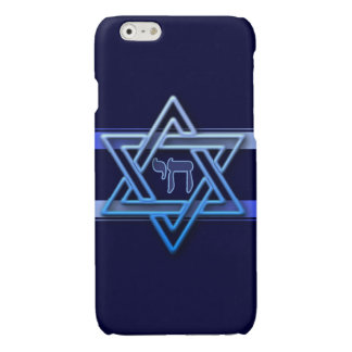 Stunning Star of David chai Glossy iPhone 6 Case