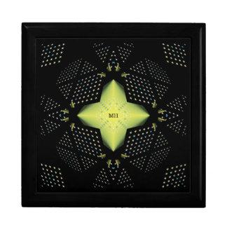 Stunning Star Pattern Design (add initials) Keepsake Box