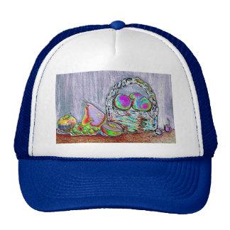 Stunning  still life fruit and basket art Cap Trucker Hat