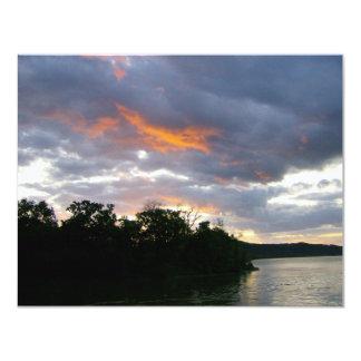 Stunning Sunrise Along Ohio River Card