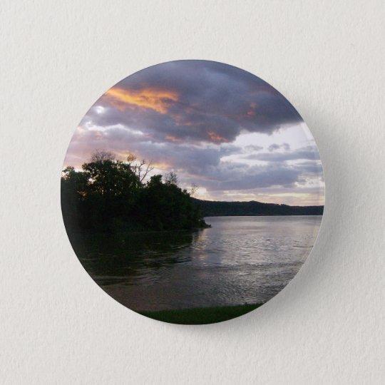 Stunning Sunrise Along Ohio River Pinback Button