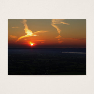 Stunning Sunset over Coaley Peak Business Card