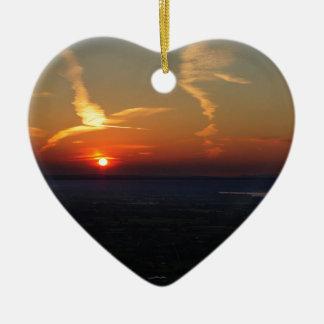 Stunning Sunset over Coaley Peak Ceramic Ornament