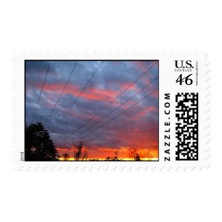 Stunning Sunset Postage Stamp