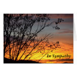 Stunning Sunset Sympathy Greeting Card